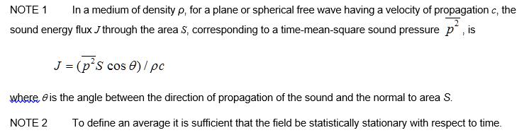 2.69 sound-energy flux