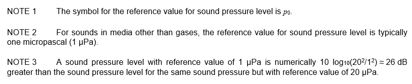 3.08 reference value for sound pressure