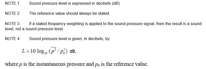 3.09 sound pressure level