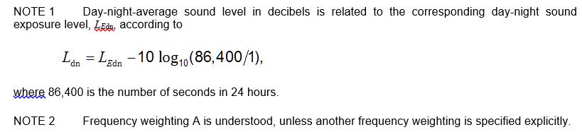 3.19 day-night-average sound level